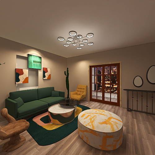 Copy of معيشة Interior Design Render