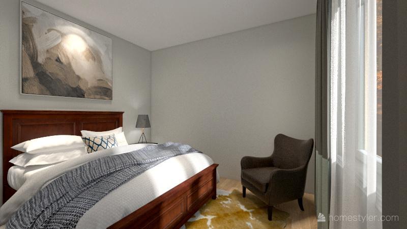 Airbnb lake house re-design Interior Design Render