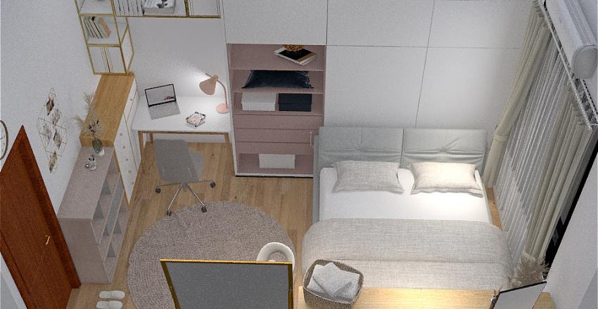 Simple Cute Bedroom Interior Design Render