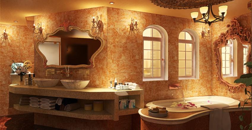Master's Own Suite Toilet en Bath Interior Design Render
