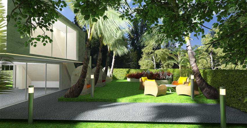 villa architettonica moderna personalizzata Interior Design Render
