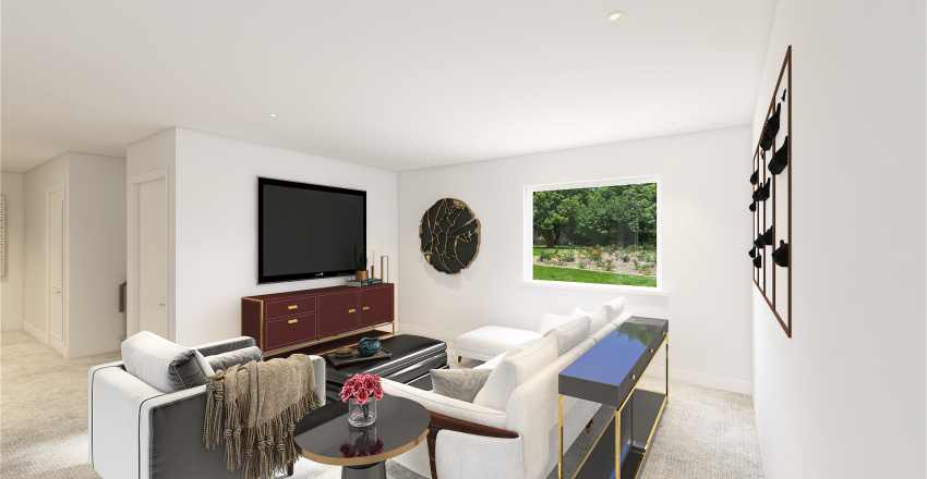 Basement - Catherine Reeves Interior Design Render