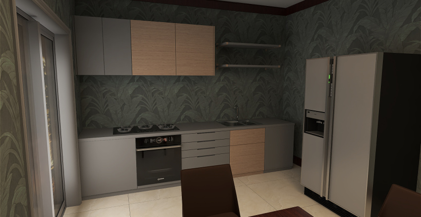 Three room flate Interior Design Render