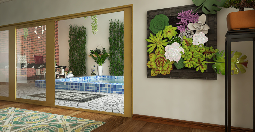 Modern Asian Interior Design Render