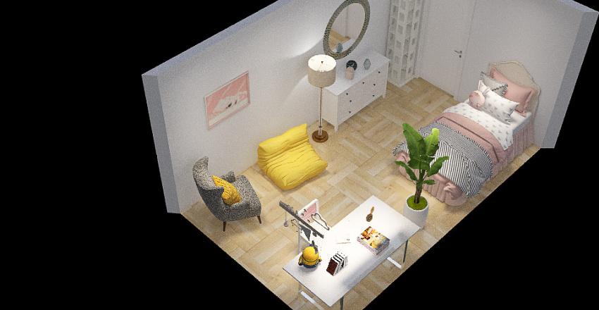 Alinas Zimmer - Variante 3 Interior Design Render