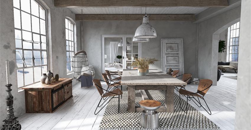 Apartamento bohemio Interior Design Render