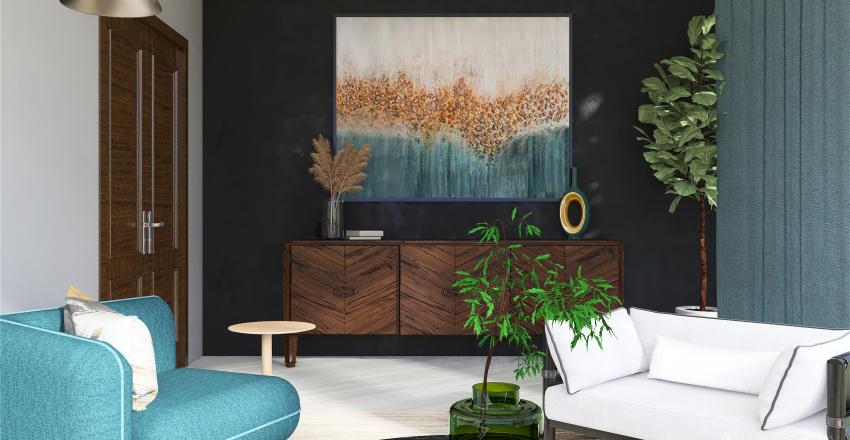 Cozy Livingroom Interior Design Render