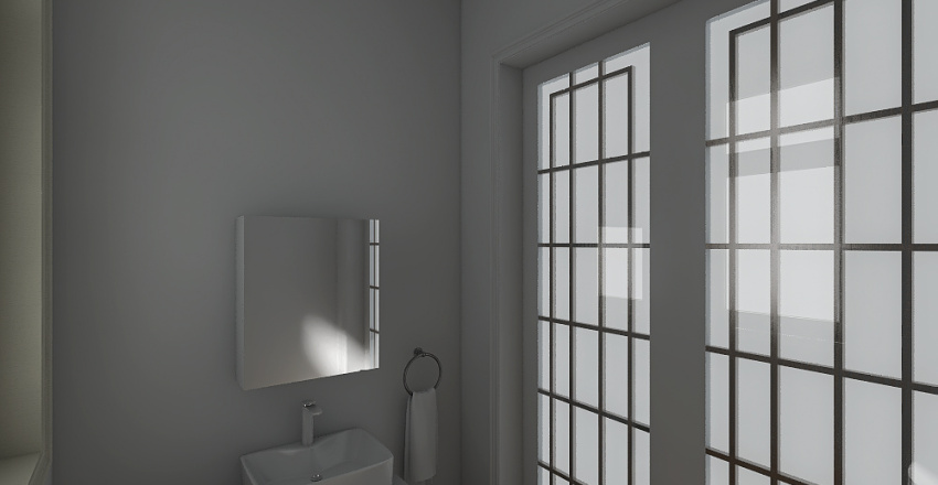 Cuarto de baño Pequeño Interior Design Render