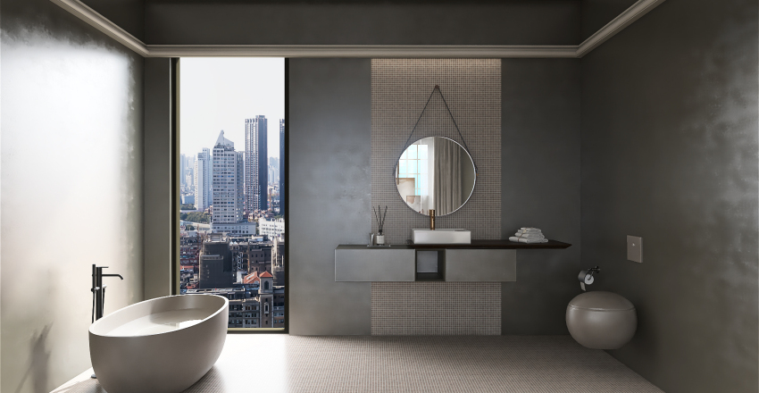 Penthouse in NY City Interior Design Render