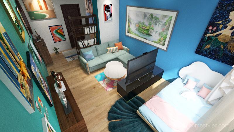 annorlunda variant 2 säng Interior Design Render