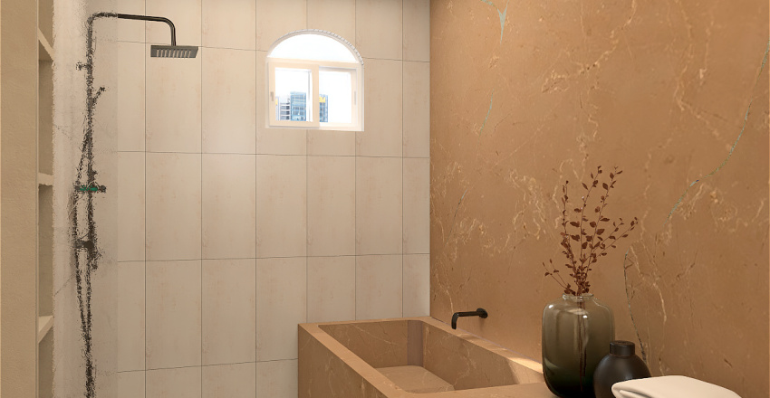 Double Room RIVEL HOTEL Interior Design Render