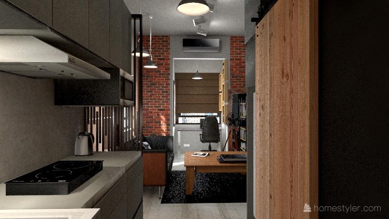 v2_Victoria Station 2 Living and Dining Area Interior Design Render