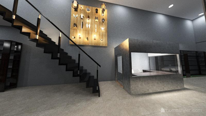 Nha ban hang Interior Design Render