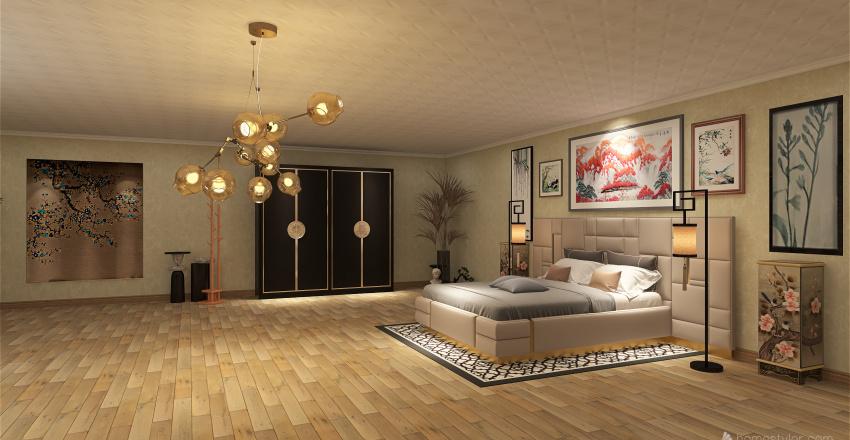 Japanese style Interior Design Render