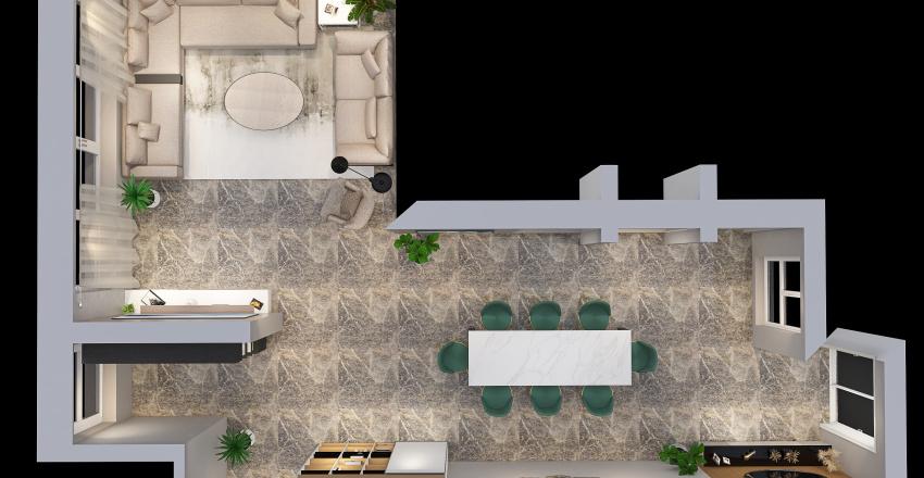 SALA COMEDOR - ESPACIOS INTERIORES Interior Design Render
