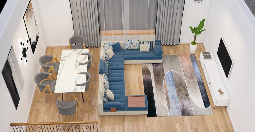 Квартира с террасой Interior Design Render