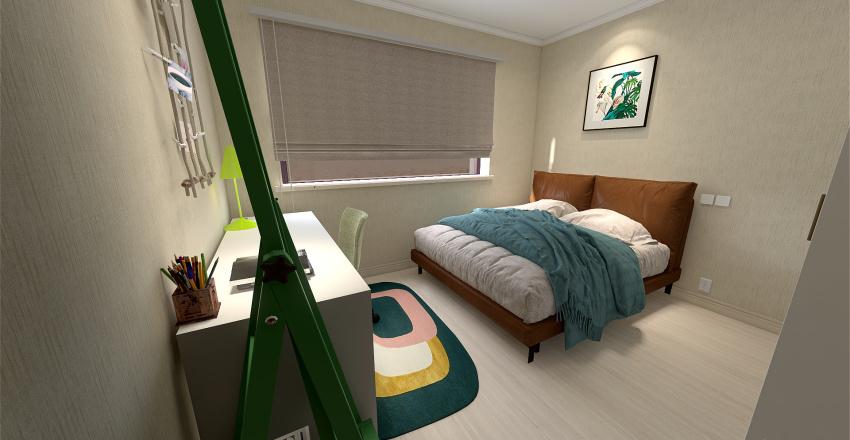 Normal family home Interior Design Render