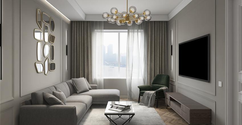 Foggy morning Interior Design Render