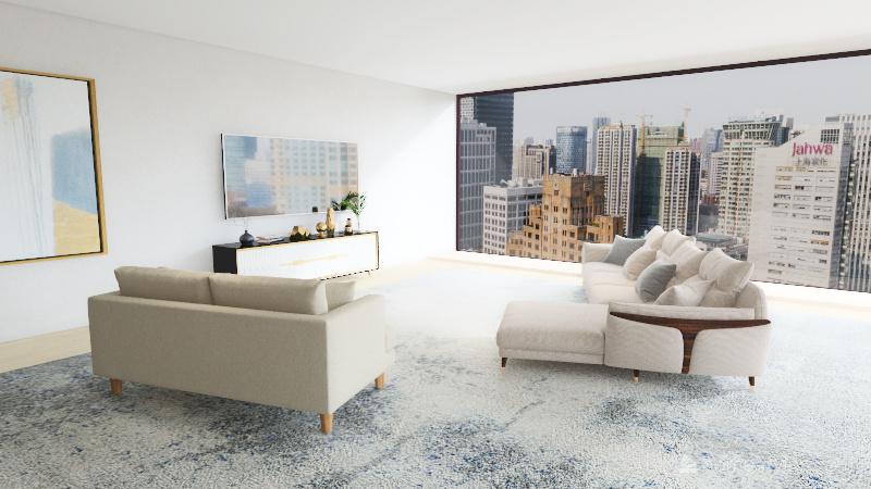 Modern Living-room  Interior Design Render