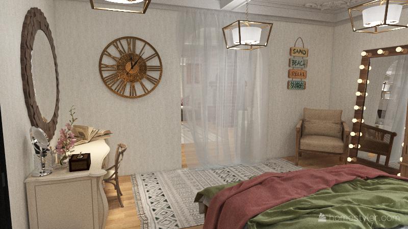 1 person home Interior Design Render