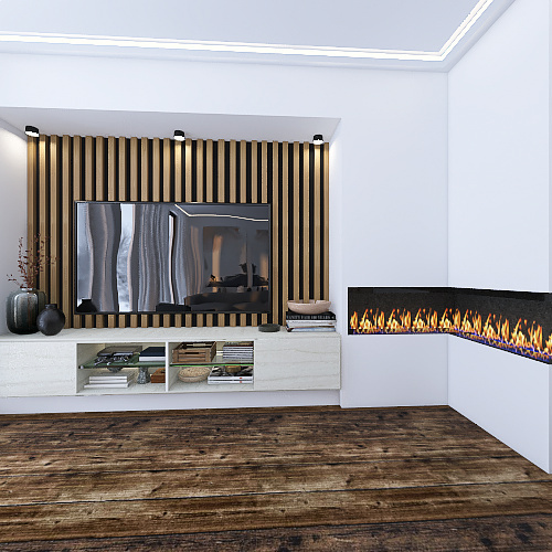 The nordic style inspired house Interior Design Render