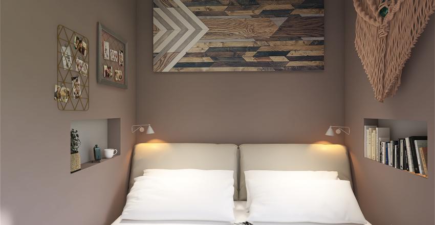 One Bedroom Cottagecore Interior Design Render