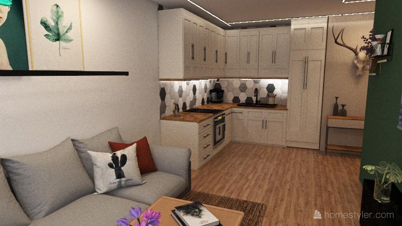 Nowy bańgów Interior Design Render