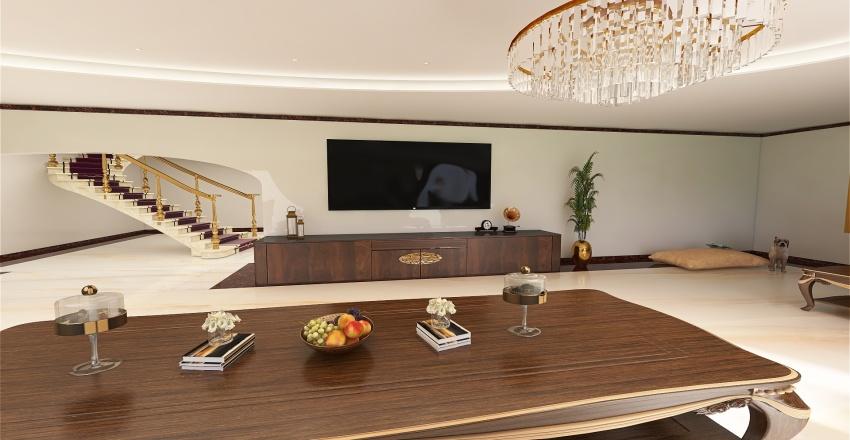 F-living room Interior Design Render
