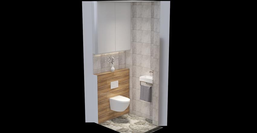 S. Zsolt és Judit wc2 Interior Design Render