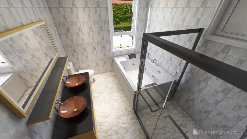 Post Modern Loft Interior Design Render