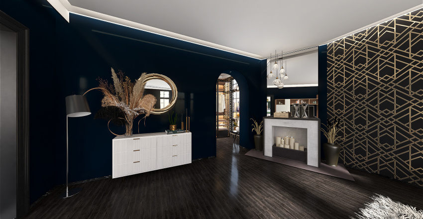 Room 2- Bold Colors and Geometry Interior Design Render