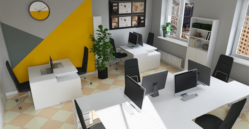 кабинет для программистов Interior Design Render