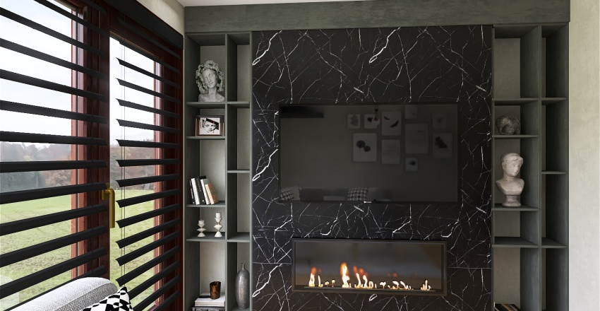 Copy of Living room with kitchen1 Interior Design Render