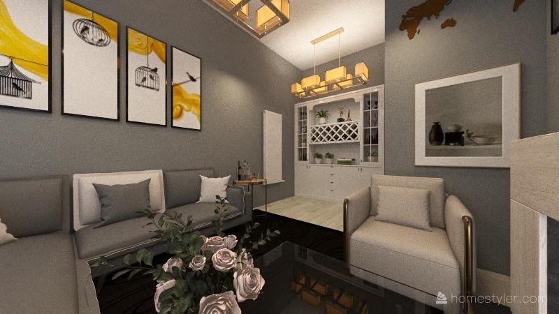 stylish apartment Interior Design Render