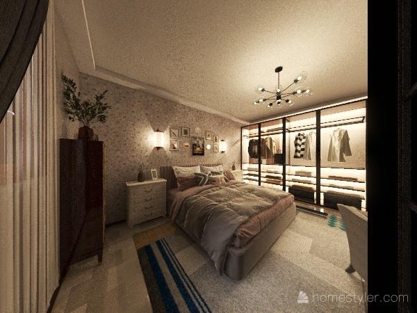 simple room Interior Design Render