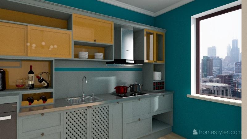 Odnowiony domek Interior Design Render