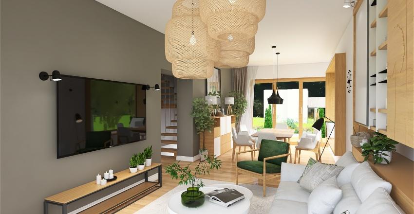 #Residential Polish Typical Cube Villa Interior Design Render