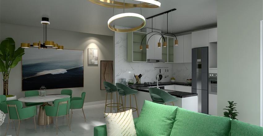 the appartament in green Interior Design Render