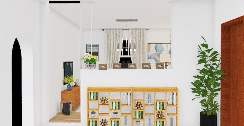 Hallway book storage Interior Design Render
