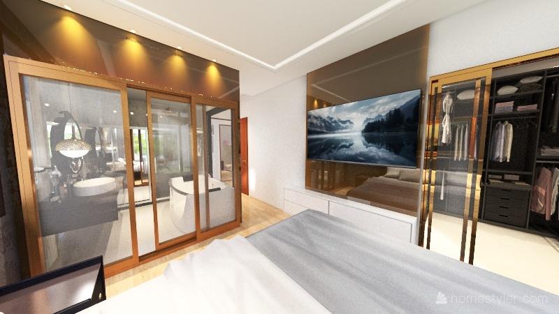 planta baixa Casa taruma banheiro Interior Design Render