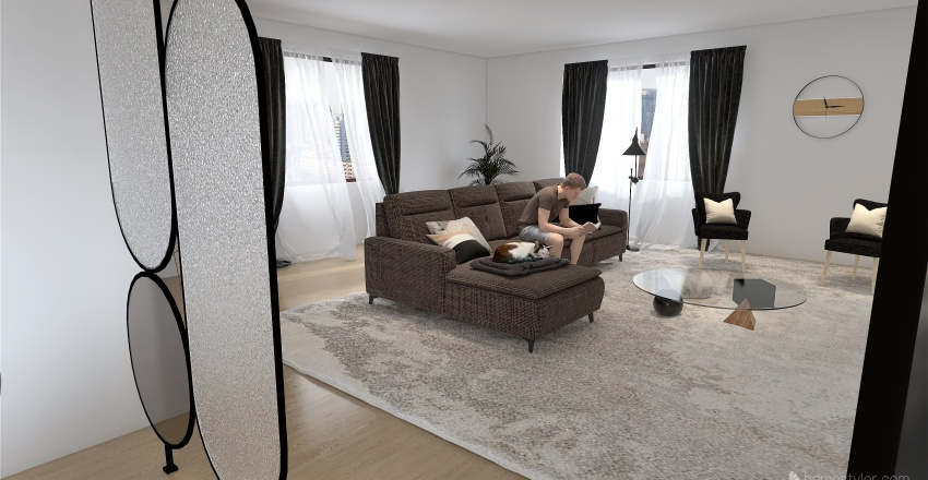 casa decoração Interior Design Render