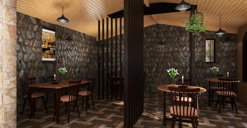 Coffee shop in Italy Interior Design Render