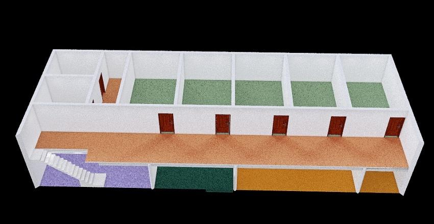 Training Center 2 Floor Interior Design Render