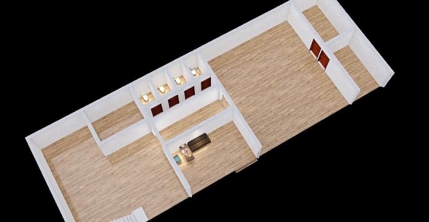 Training Center 1 Floor Interior Design Render