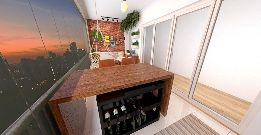 Varanda urban jungle Interior Design Render