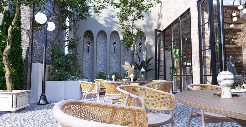 Commercial design: Vintage gifts and art. Interior Design Render