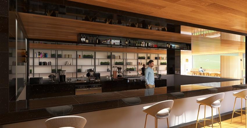 Coffe Bookstore, Kyoto Interior Design Render