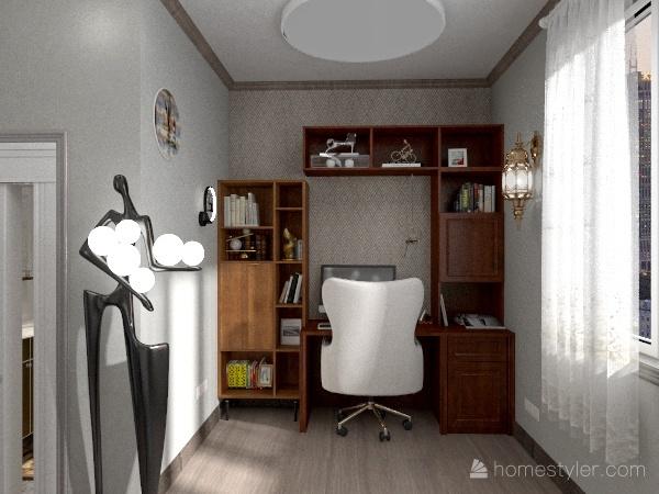 Escritório prático Interior Design Render