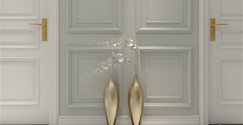 Neoclassical style apartment Interior Design Render