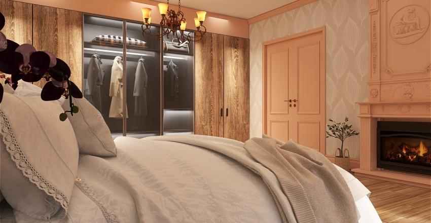 Romantic one bedroom apartment Interior Design Render